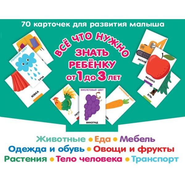 Все, что нужно знать ребенку от 1 до 3 лет. Карточки